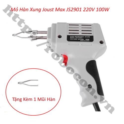 Mỏ Hàn Chì, Mỏ Hàn Xung Joust Max JS2901 220V 100W (Loại Tốt)