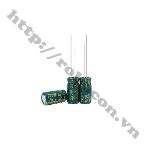 Tụ Hóa Tần Số Cao 220uF 25V 6x12mm