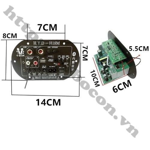 Mạch Loa Kéo Tích Hợp USB-TF Lossless, Bluetooth, Micro Karaoke
