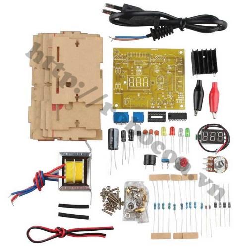 MDL119 Bộ DIY Nguồn Mini  LM317 1.25V-12V 1.5A (Tụ Ráp)