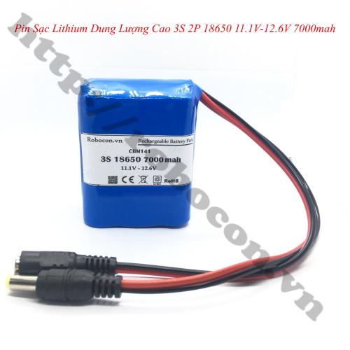 CBM141 Pin Sạc Lithium Dung Lượng Cao 3S 2P 18650 11.1V-12.6V 7000mah