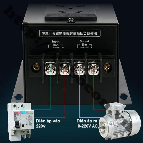 MDL72 Dimmer GT-10000W 0-220VAC Có Led Hiển Thị