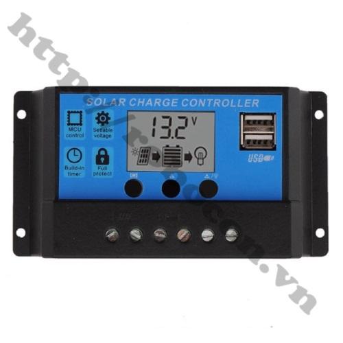 PPKP212 Bộ Điều Khiển Sạc Năng Lượng Mặt Trời Hiển Thị LCD 30A 12/24V