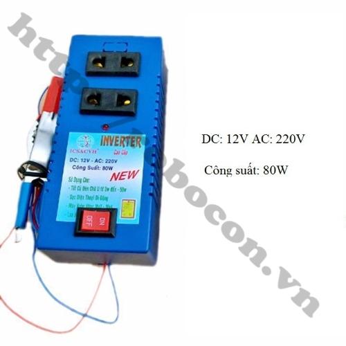 Bộ Chuyển Đổi Điện Inverter 12V Lên 220V 80W