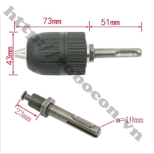 Bộ Chuyển Đổi Đầu Kẹp Mũi Khoan 13mm Cho Khoan Bê Tông 1/2-20UNF