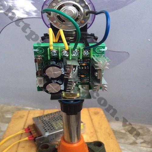 Bộ Combo DIY Chế Quạt Từ Động Cơ 775 Có Điều Tốc sử dụng để chế quạt 12V
