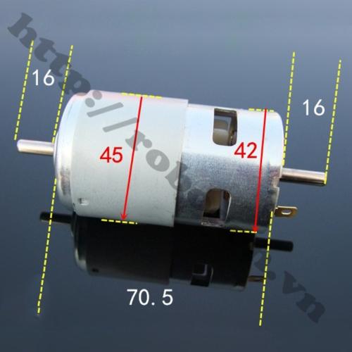 Động Cơ DC 775-12V-288W Siêu Khỏe 2 Đầu Trục