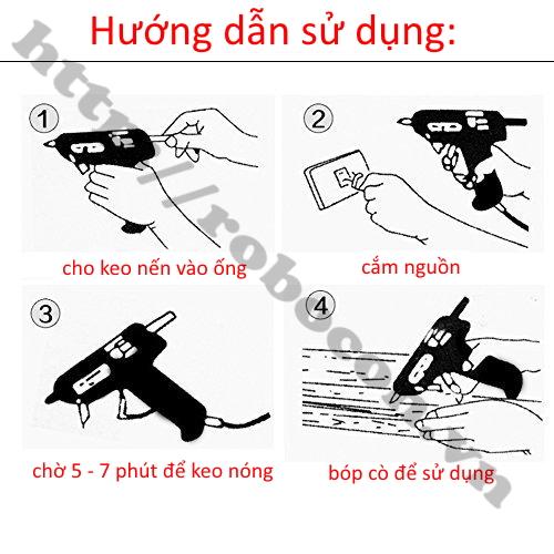 hướng dẫn sử dụng súng bắn keo nến
