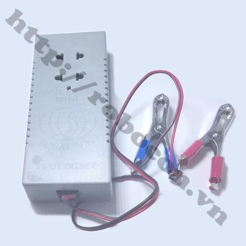Bộ Chuyển Đổi Điện Inverter 12V Lên 220V 40W Có Sẵn Ổ Cắm