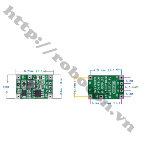 Mạch UPS Mini Chuyển Nguồn Tự Động 5V 5W V1.0