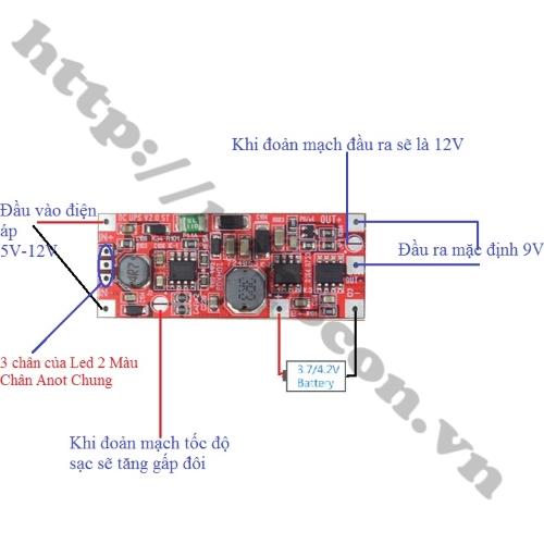Mạch Chuyển Nguồn Tự Động UPS 9V/12V 12W