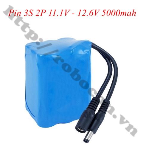 CBM119 Pin Sạc Lithium 3S 2P 18650 11.1V-12.6V 5000mah