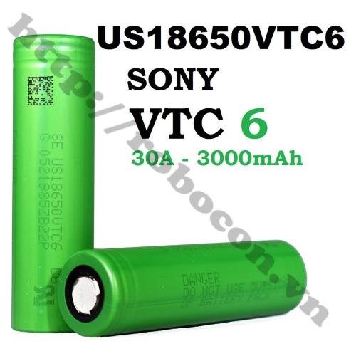 Pin Sony 18650 VTC6 3000mAh Dòng Xả 30A Chính Hãng
