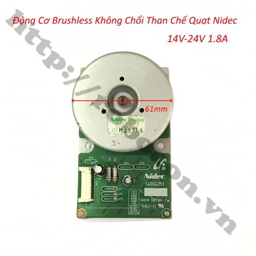 Động Cơ Brushless Không Chổi Than Chế Quạt 14V-24V 1.8A